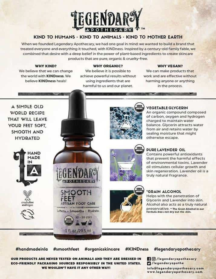 Legendary Apothecary Smooth Feet Artisan Foot Care