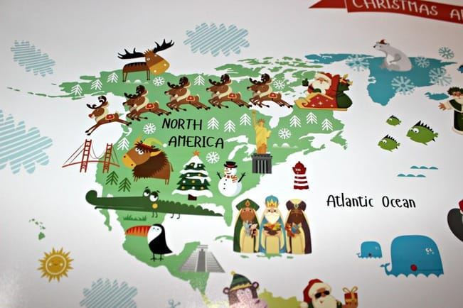 Pictureta Christmas Around the World Map for Kids #HolidayGiftGuide ...